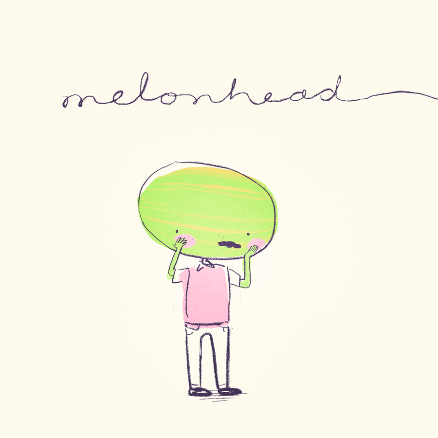 Visual Developmentof Melonhead - Melonhead is a shy, quirky melon-man put in strange (yet relatable) situations. Check out some world-building exploration in the form of short vignettes for this original character below!For the original zine, check out this page.