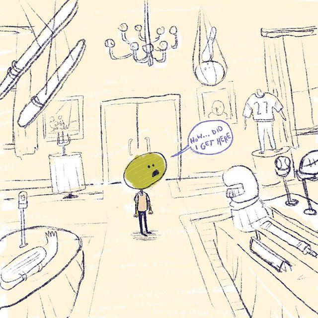 Impulse buys, am I right?! . . . . . . . #melonhead #antique #comics #comics #art #drawing #illustration #illustrationartist #artistsofinstagram #sketchbook #sketchy #fruit #quirky #weird #humor #funny #plantain #silly #artistsoninstagram #somanyhashtags #digitalart #procreate