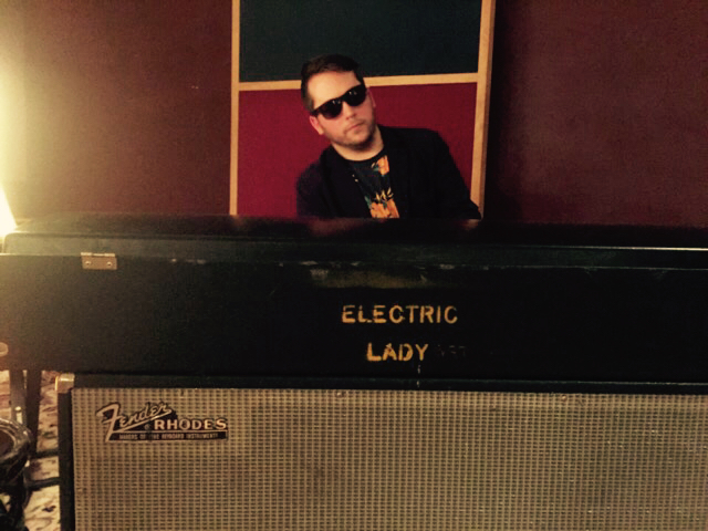 Playing Stevie Wonder's electric piano