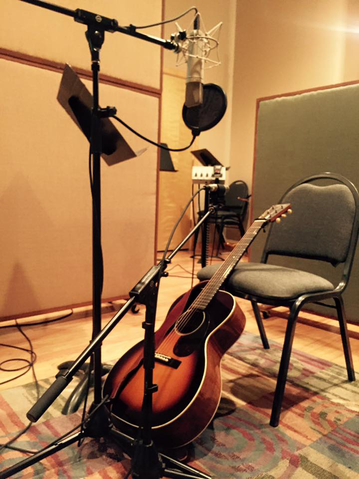 My trusty Martin in the studio!