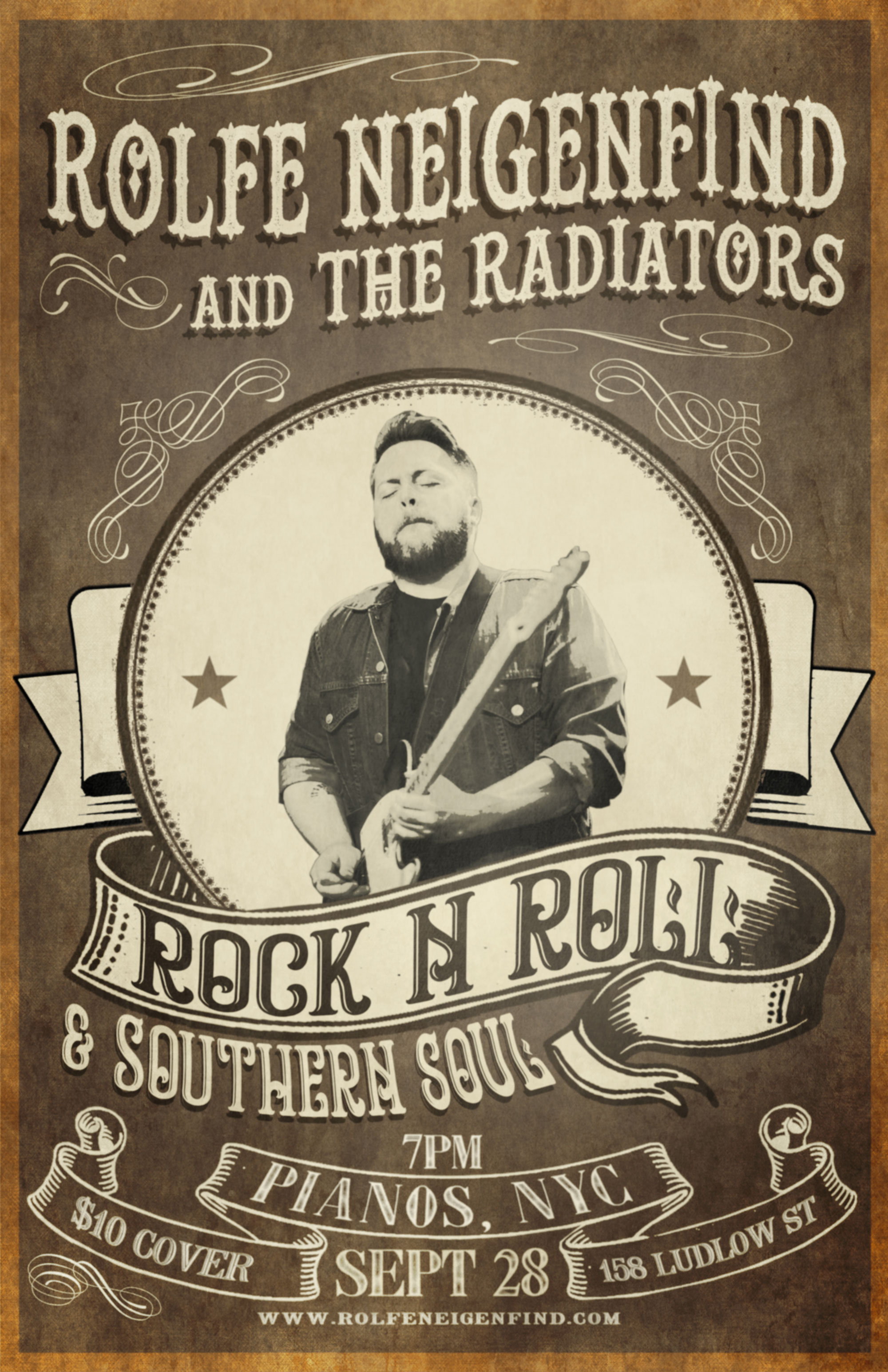 Come join Rolfe & The Radiators later this month at Pianos 9/28!