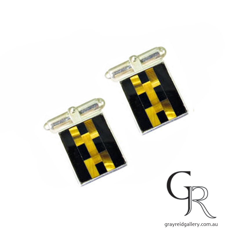 Onyx & Tiger Eye Cufflinks Melbourne Gray Reid Gallery.jpg