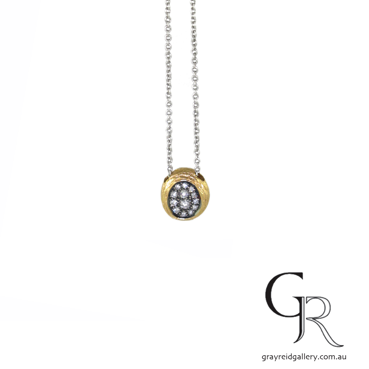 Rose Gold & Diamond Nest Pendant