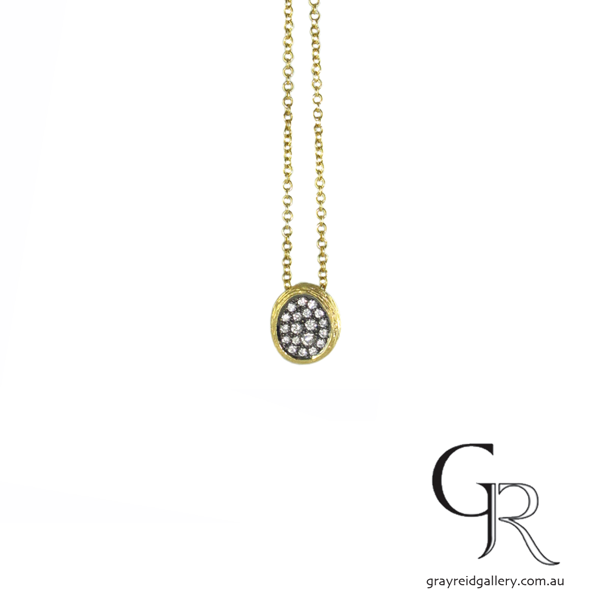 Yellow Gold & Diamond Nest Pendant