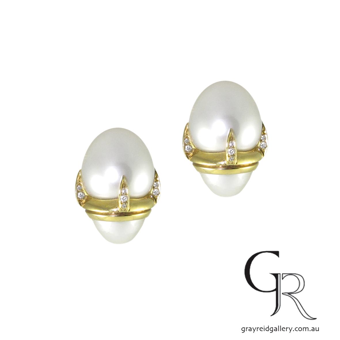 Handmade South Sea Pearl Earrings by Ken Gray at Gray Reid Gallery.JPG