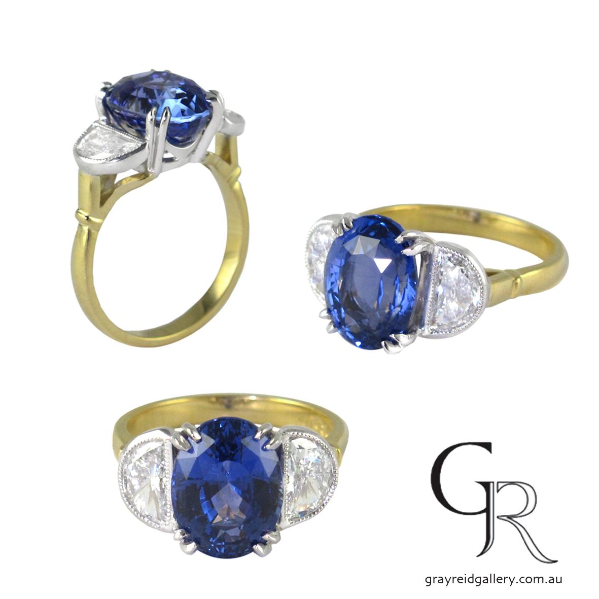 A Bespoke Sapphire & Diamond by Gray Reid Gallery