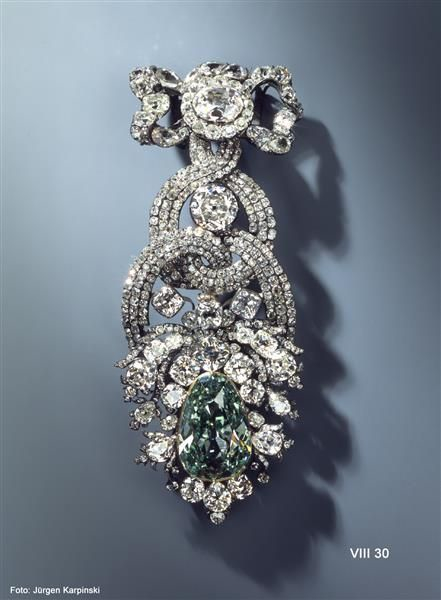 The Dresden Green Diamond - Photo via NCDIA