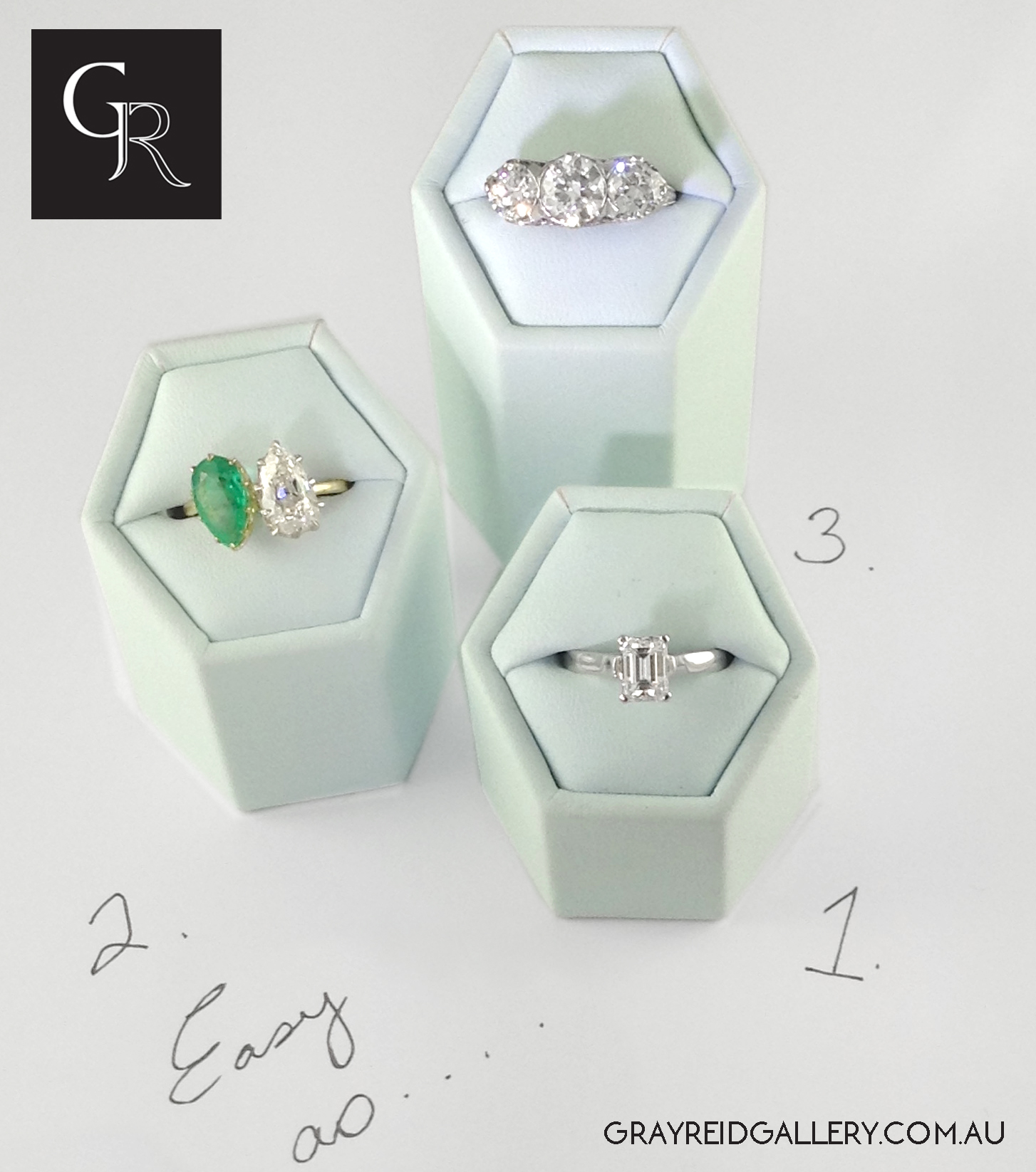 Classic, Modern & Art Deco Diamond Rings Exclusively at Gray Reid GalleryMelbourne.