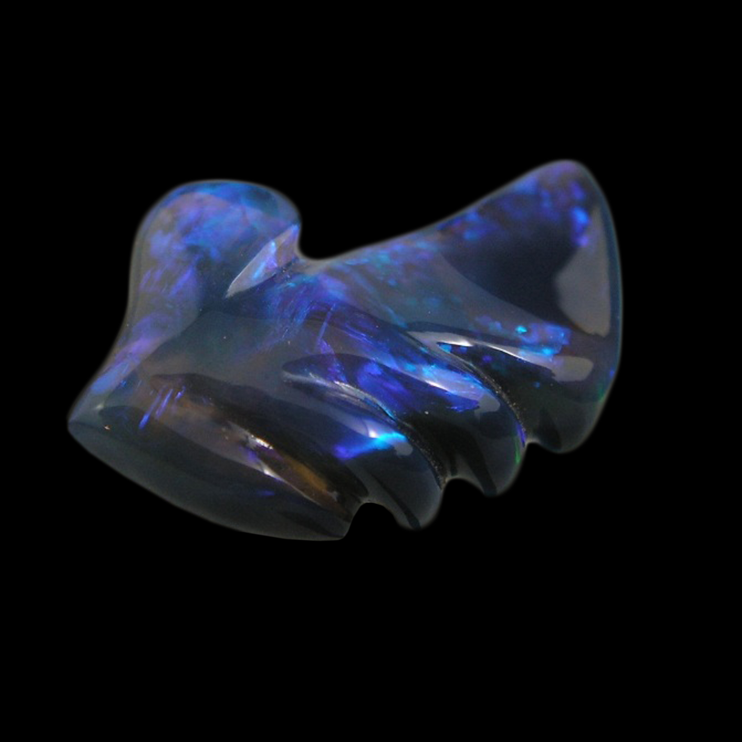 Carved 'Manina Blue' Opal by Daniela L'Abbate