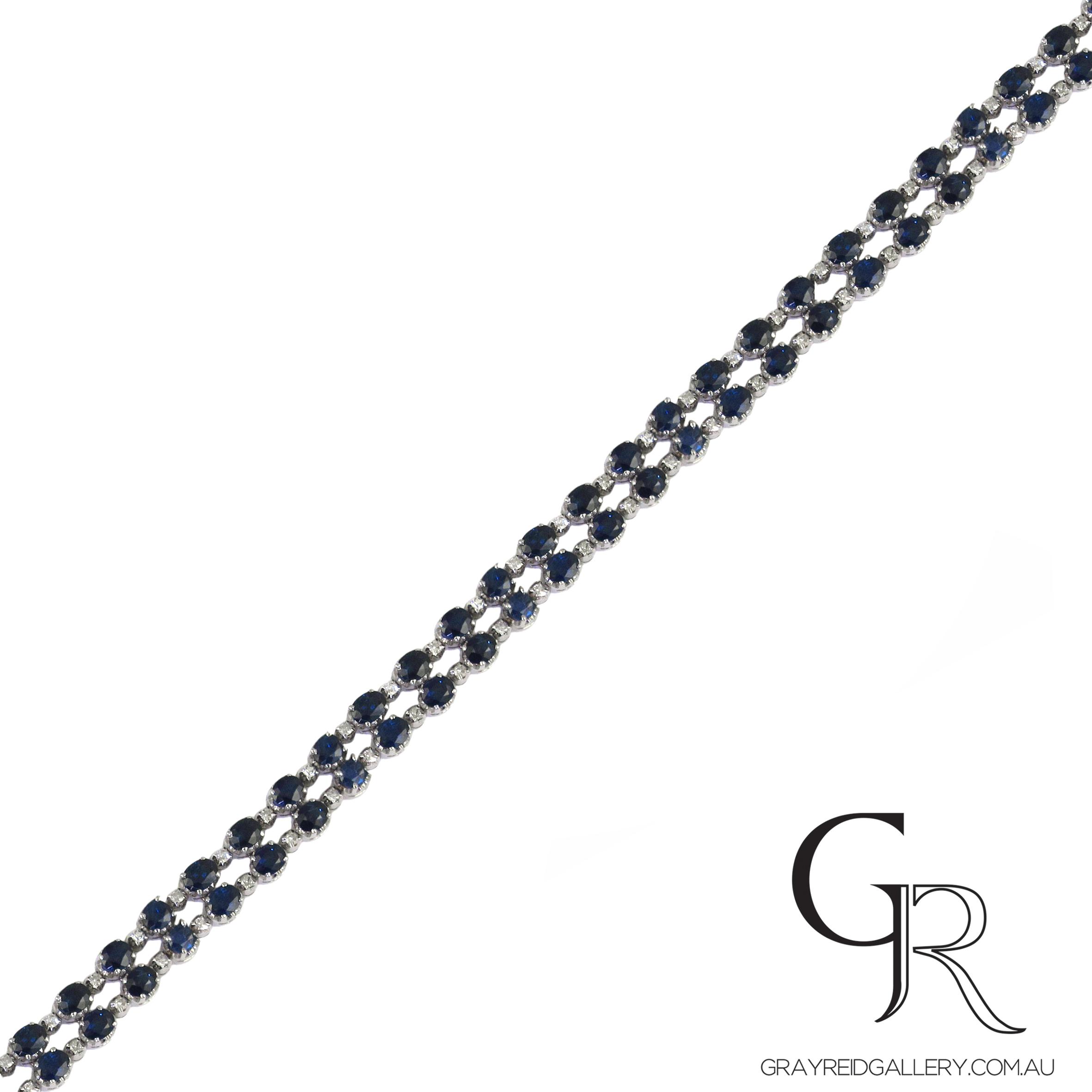 Sapphire & Diamond Bracelets Melbourne Gray Reid Gallery.JPG