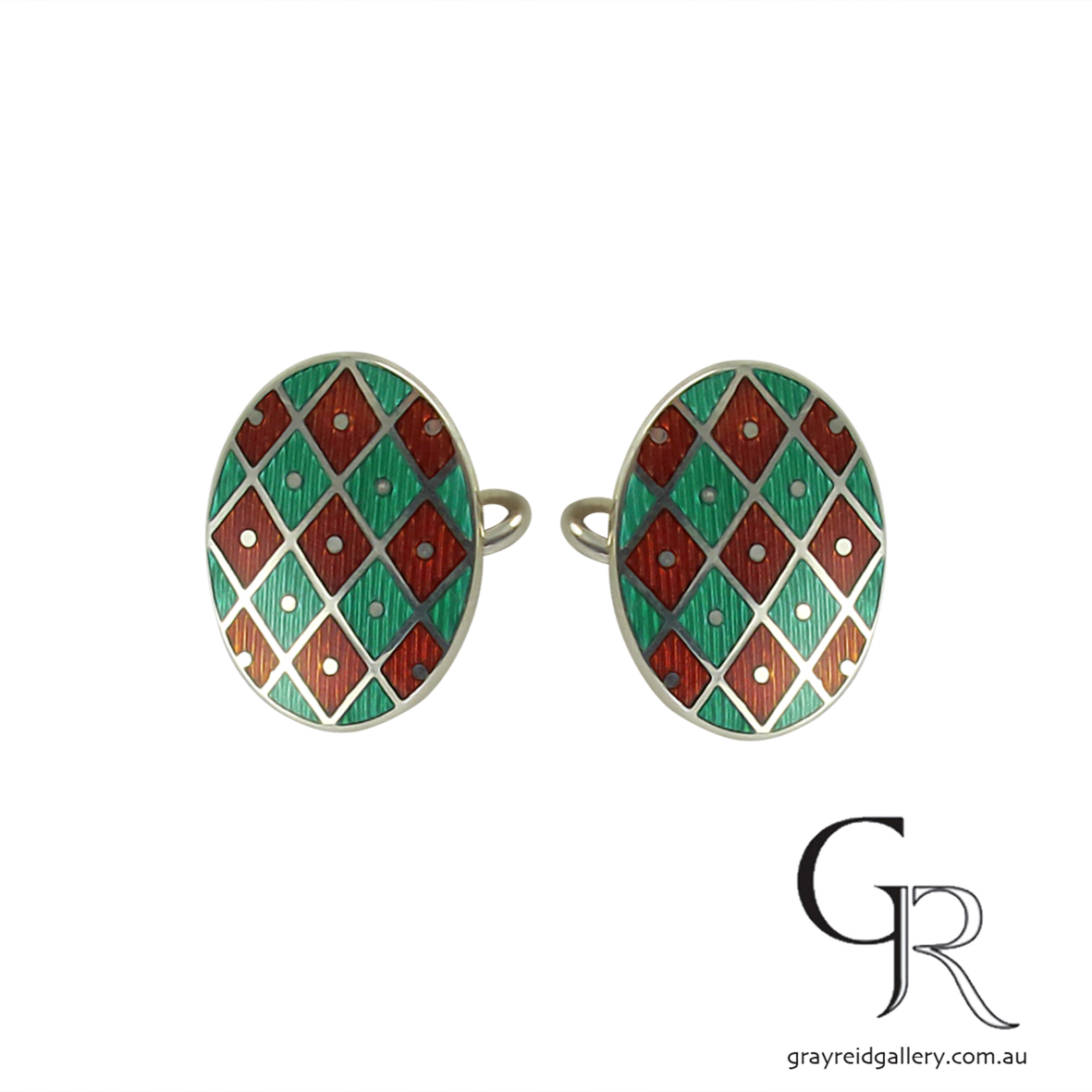 cufflinks enamel melbourne green red.jpg