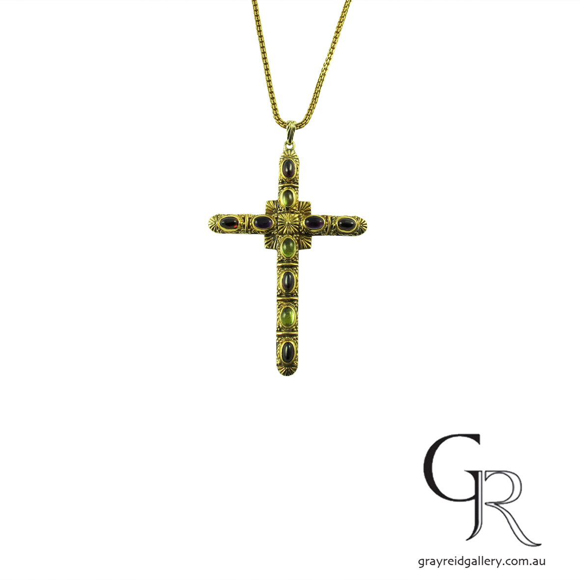 yellow gold multi stone cross.jpg