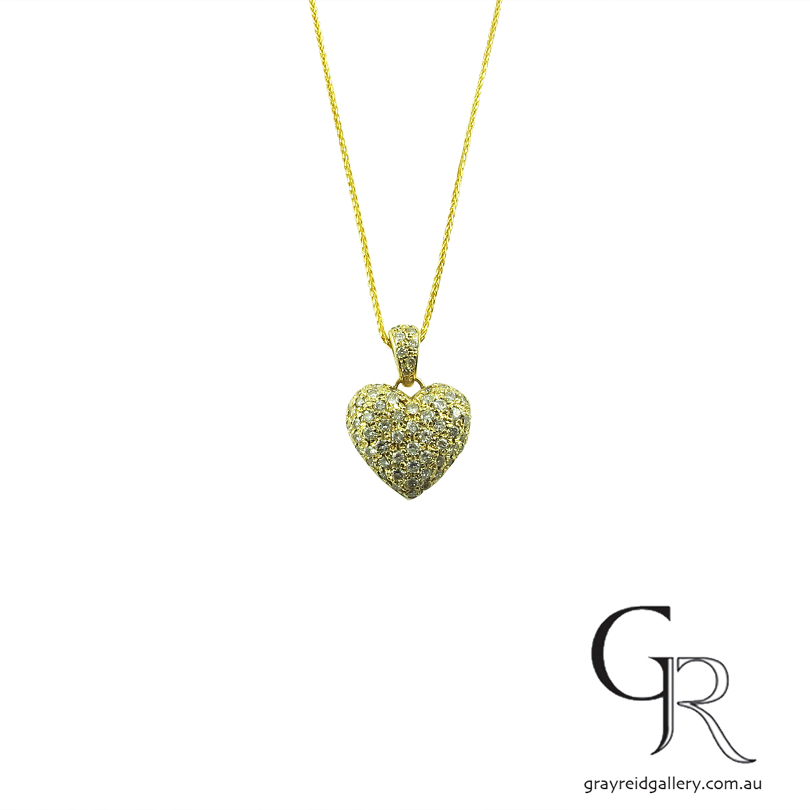 diamond set heart pendant melbourne gray reid gallery.jpg