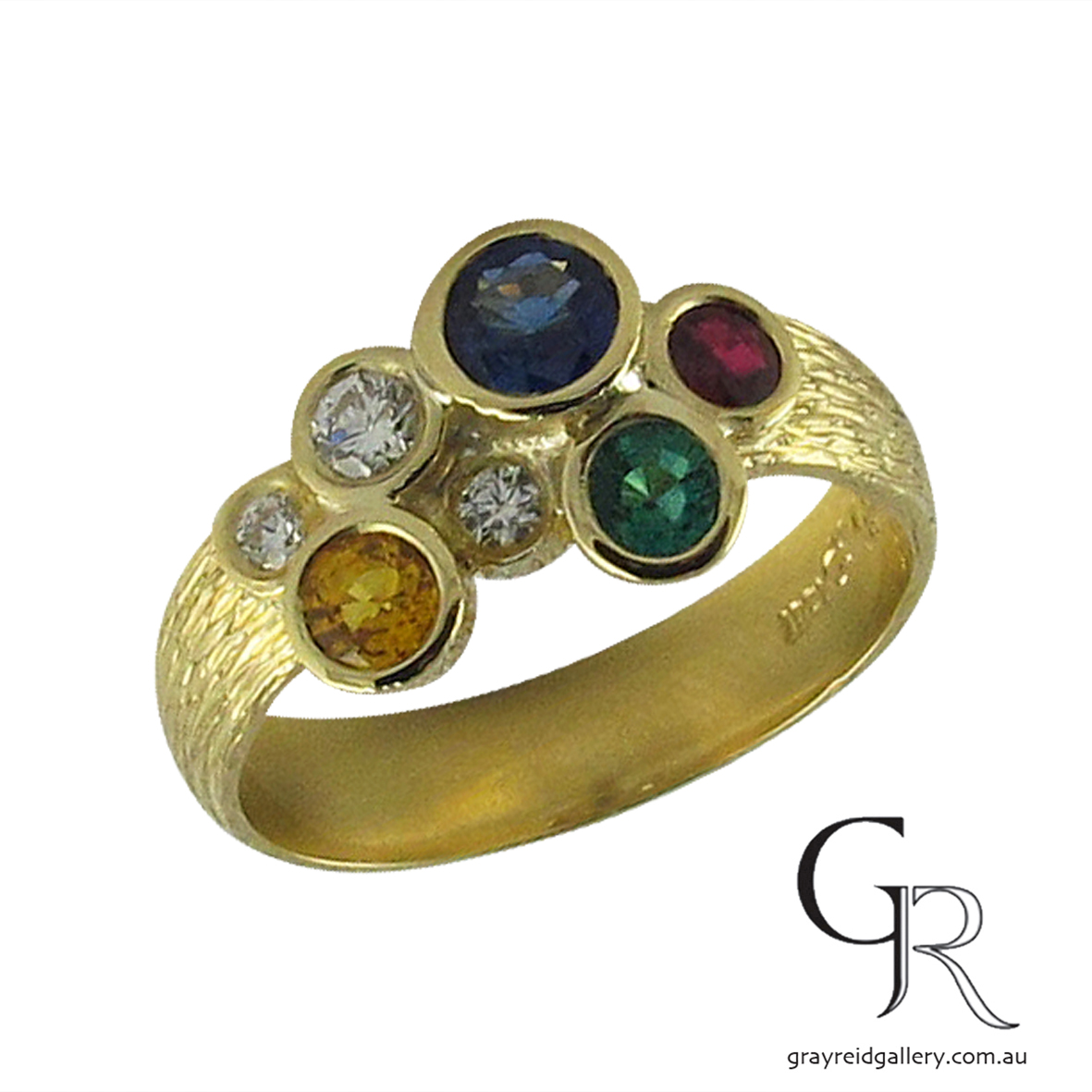 yellow gold sapphire and diamond ring melbourne.JPG
