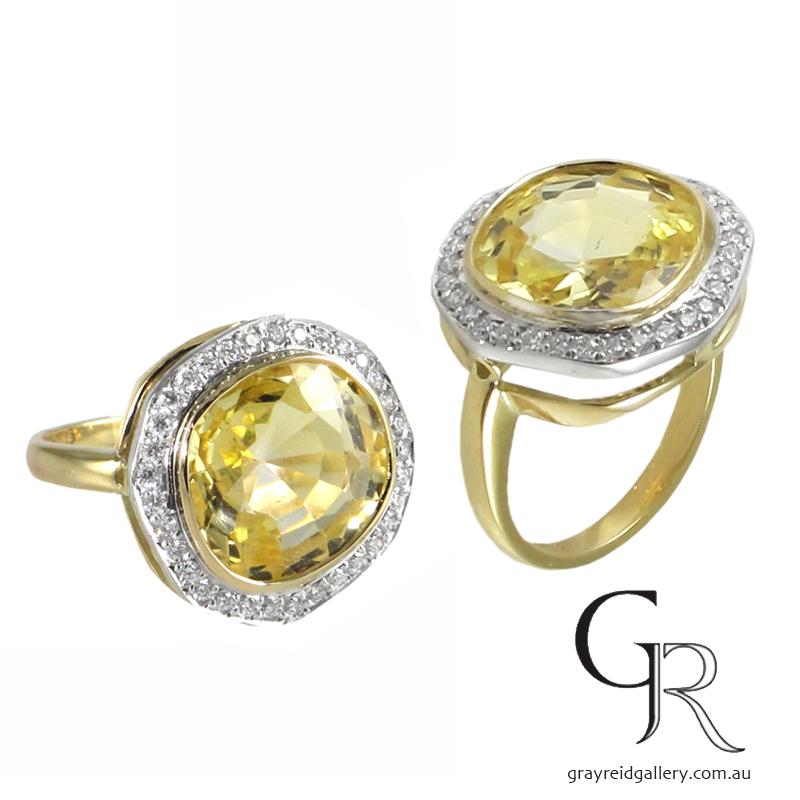 Diamond _ Yellow Sapphire Ring Melbourne Gray Raid Gallery Photo.jpg