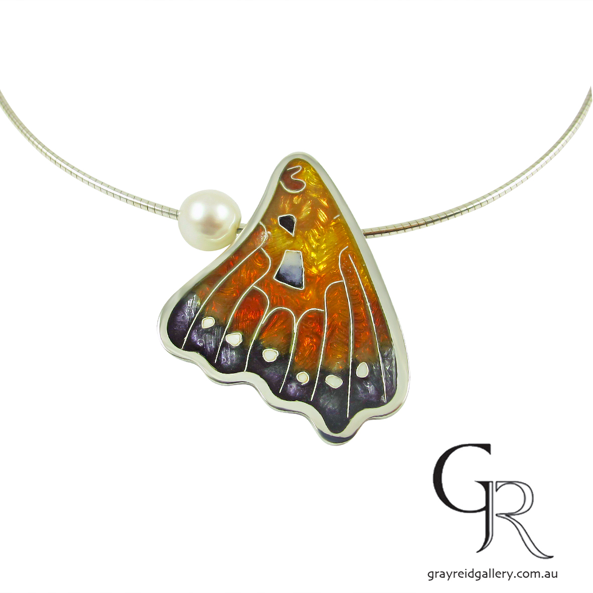 Butterfly Wing Pendant by Debbie Sheezel