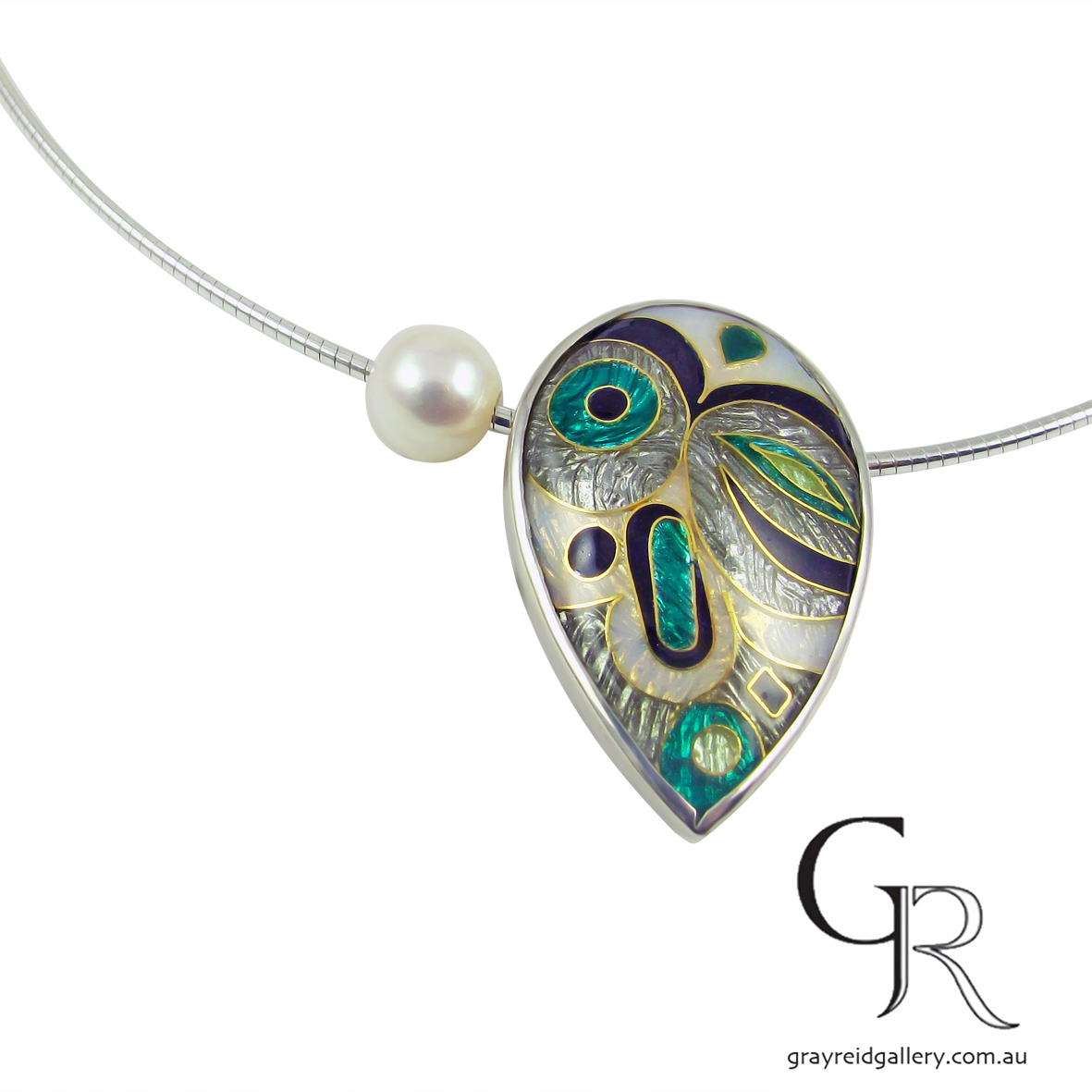 Enamel Pendant by Debbie Sheezel