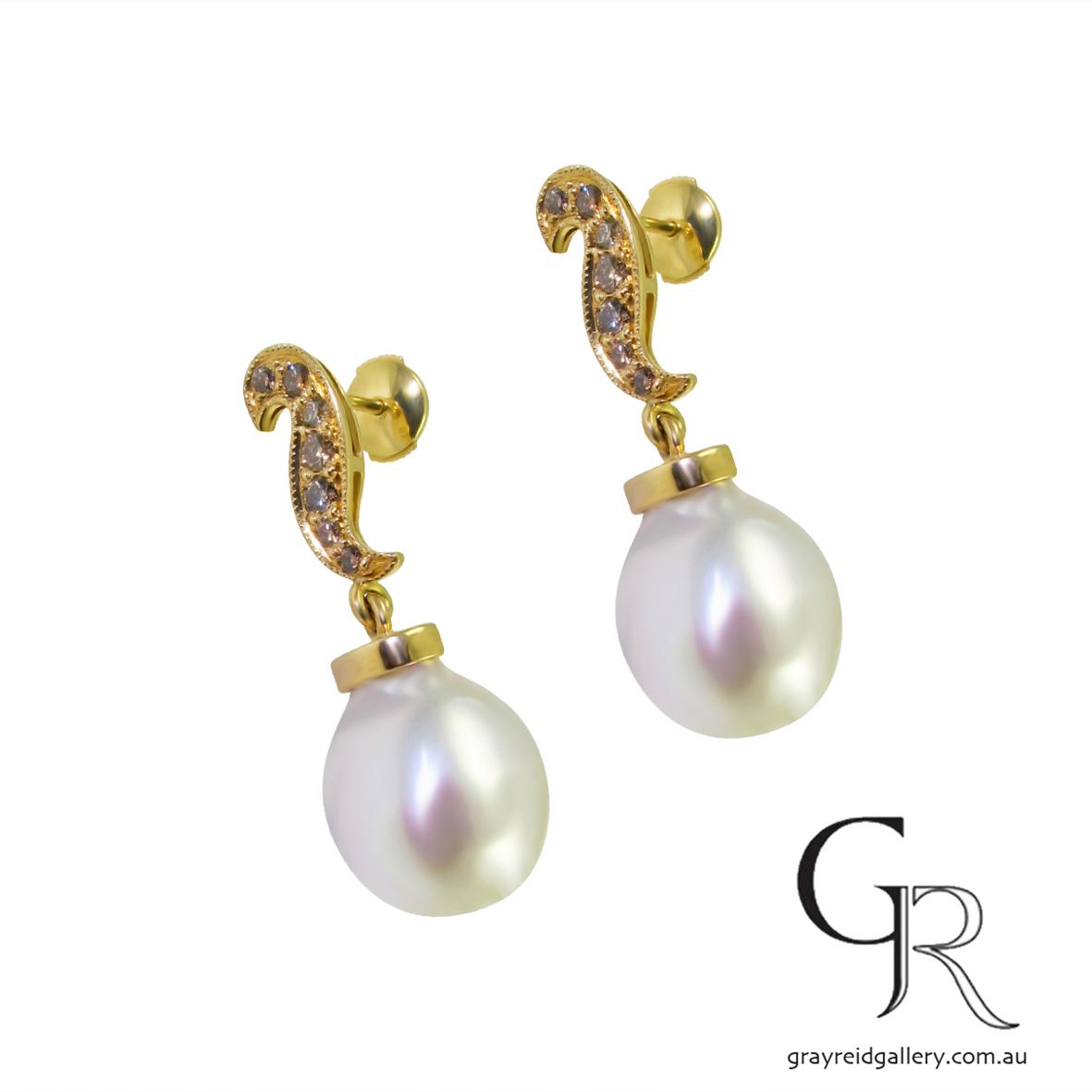 earrings pearl and cognac diamond Sonya Kelly Melbourne Gray Reid Gallery-11-25 14.46.17.jpg