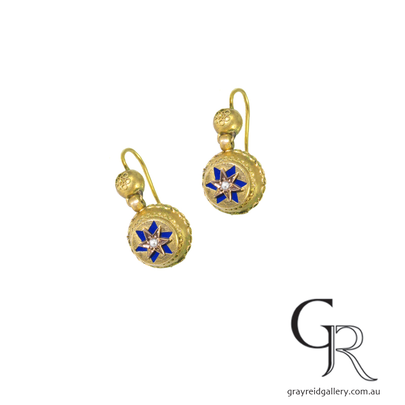 Antique Yellow Gold Earrings