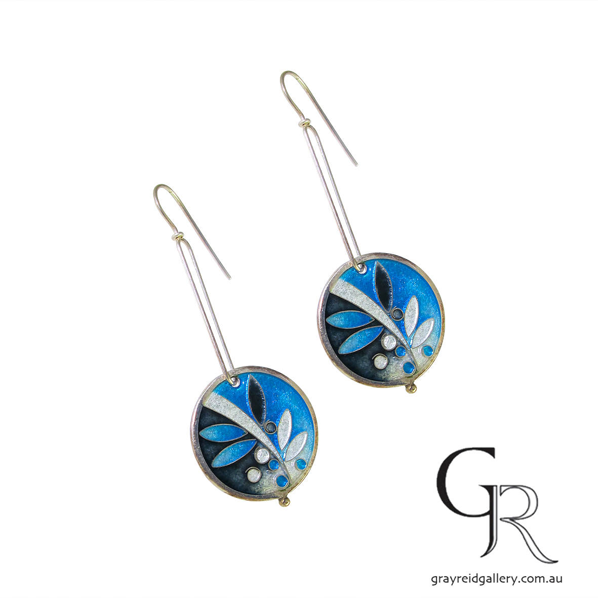Enamel Earrings By Carolyn DelZoppo