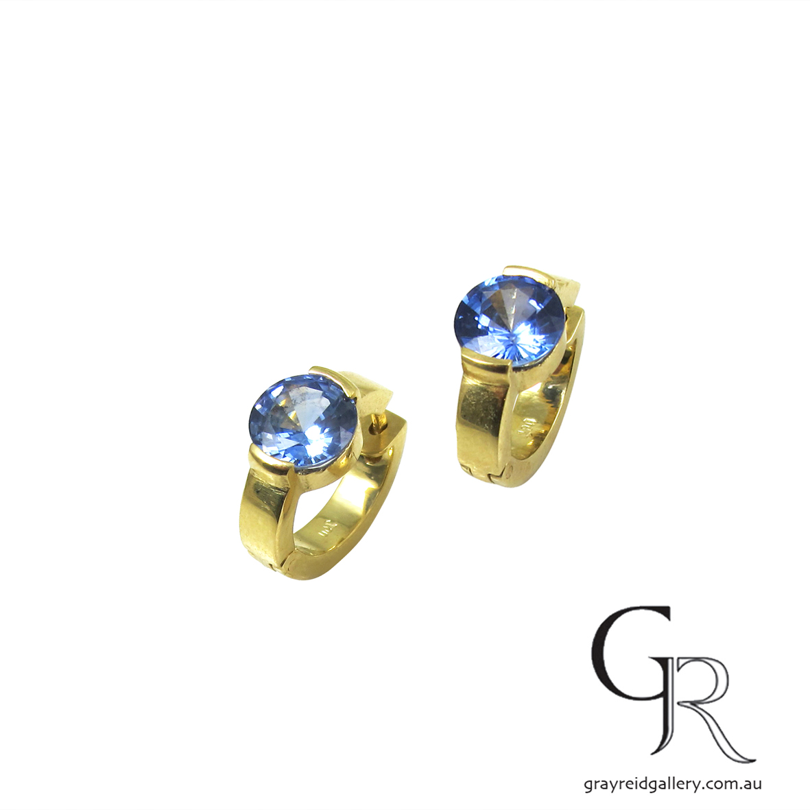 Sapphire & Diamond 'Huggies' Earrings