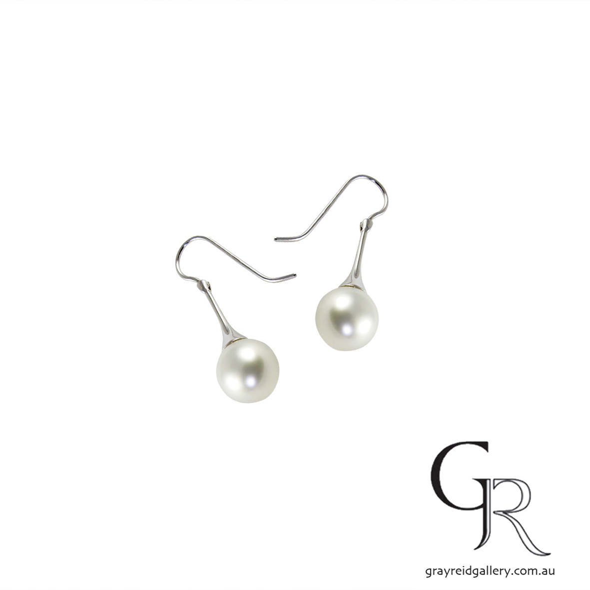 Pearl Earrings With White Gold Shepherd Hooks