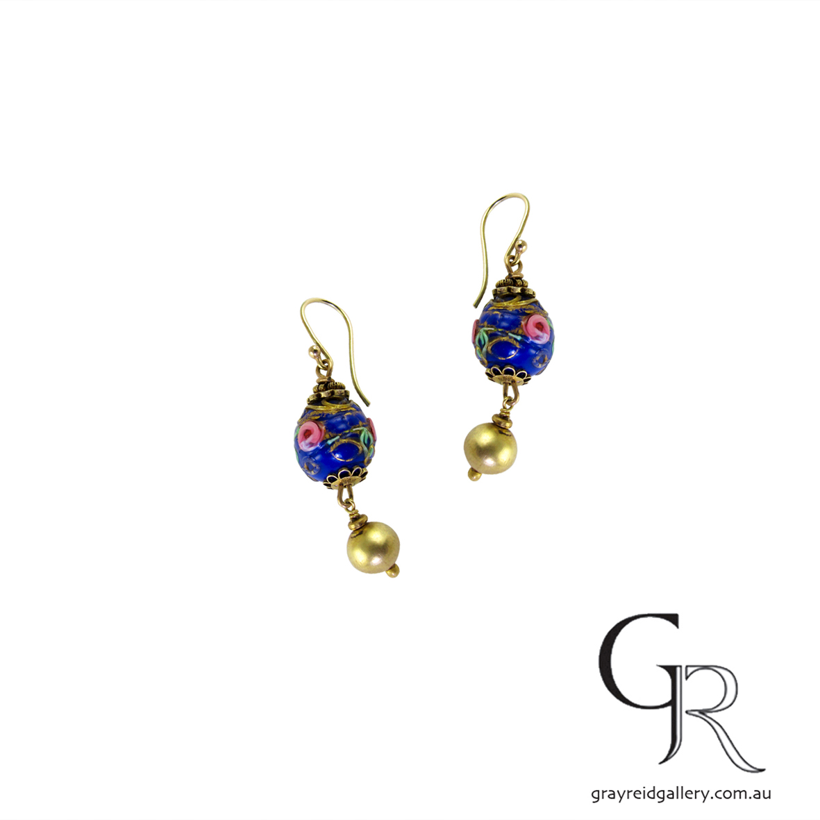 Antique Glass Earrings