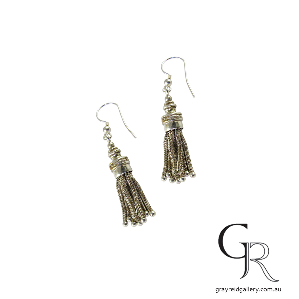 Vintage Silver Tassel Earrings