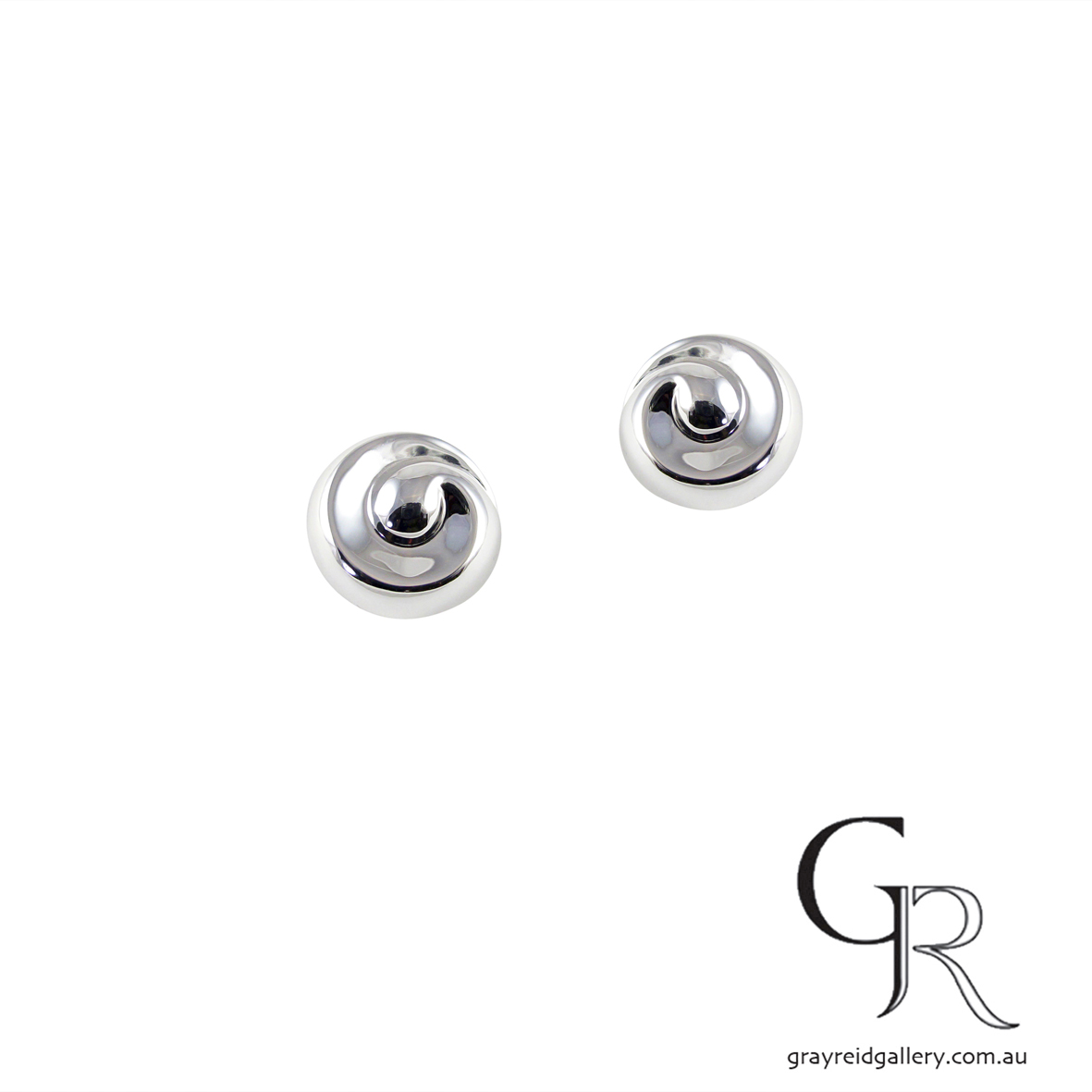 Sterling Silver 'Twirl' Earrings