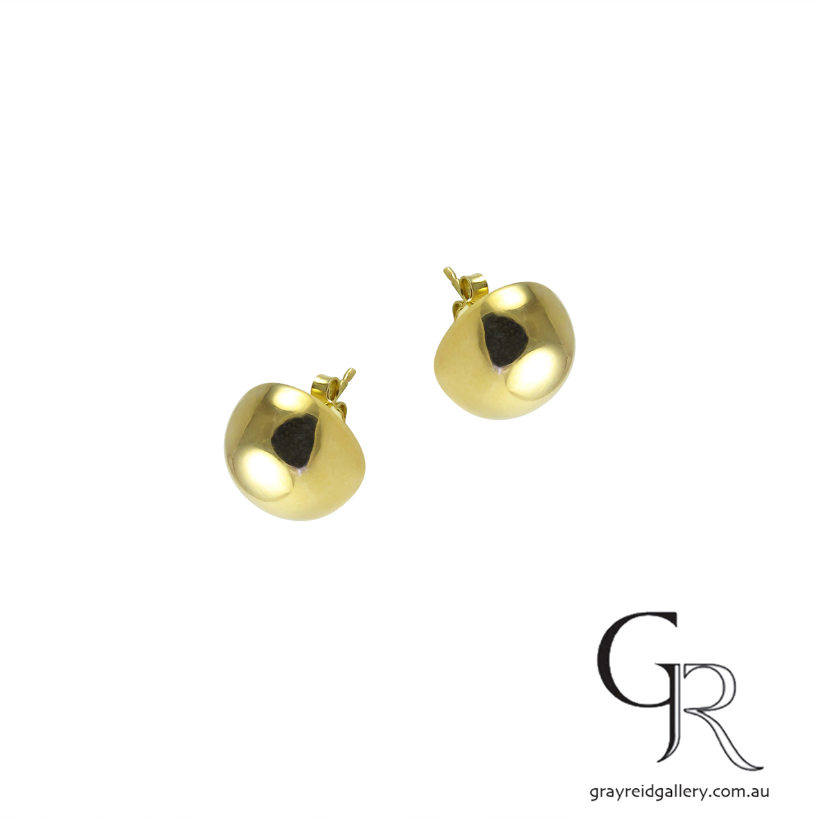 Yellow Gold 'Dome' Earrings