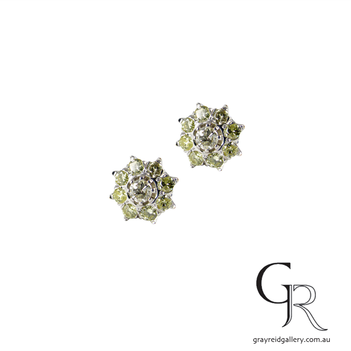 Diamond Star Studs In White Gold
