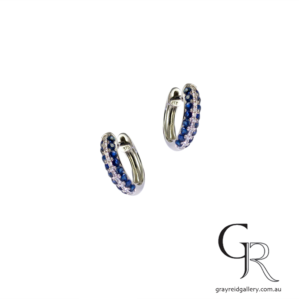 Sapphire & Diamond 'Huggie' earrings