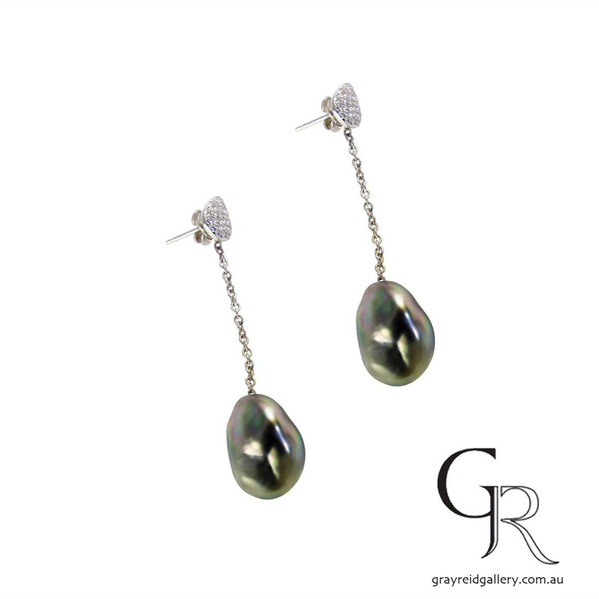 Tahitian Keshi Pearl Long Earrings