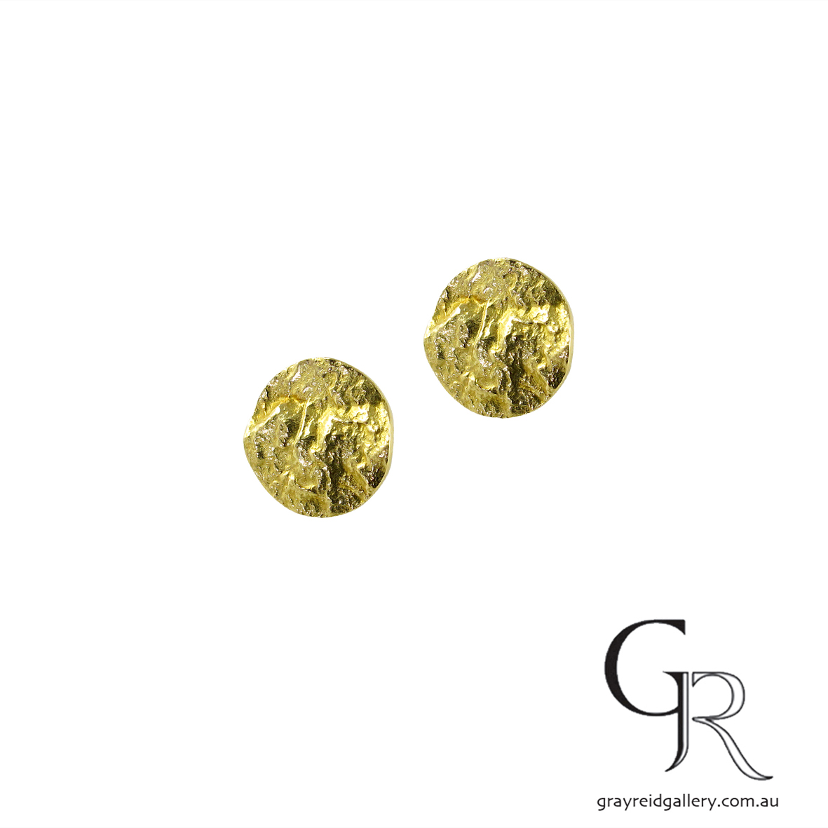 Yellow Gold 'Outback' Earrings