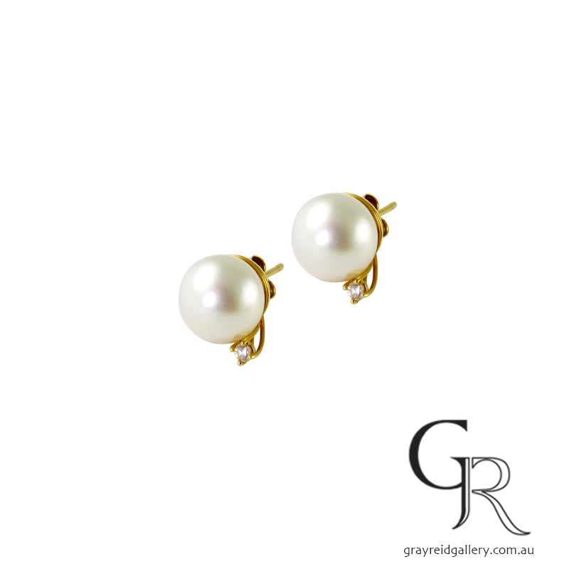 Pearl & Diamond Studs