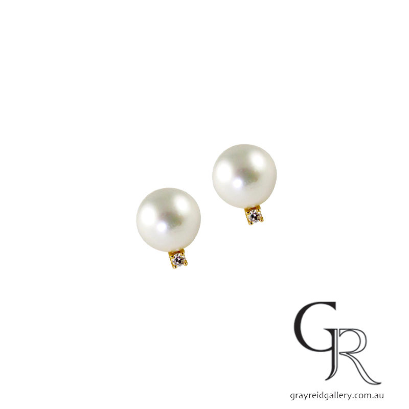 Pearl & Diamond Set Studs