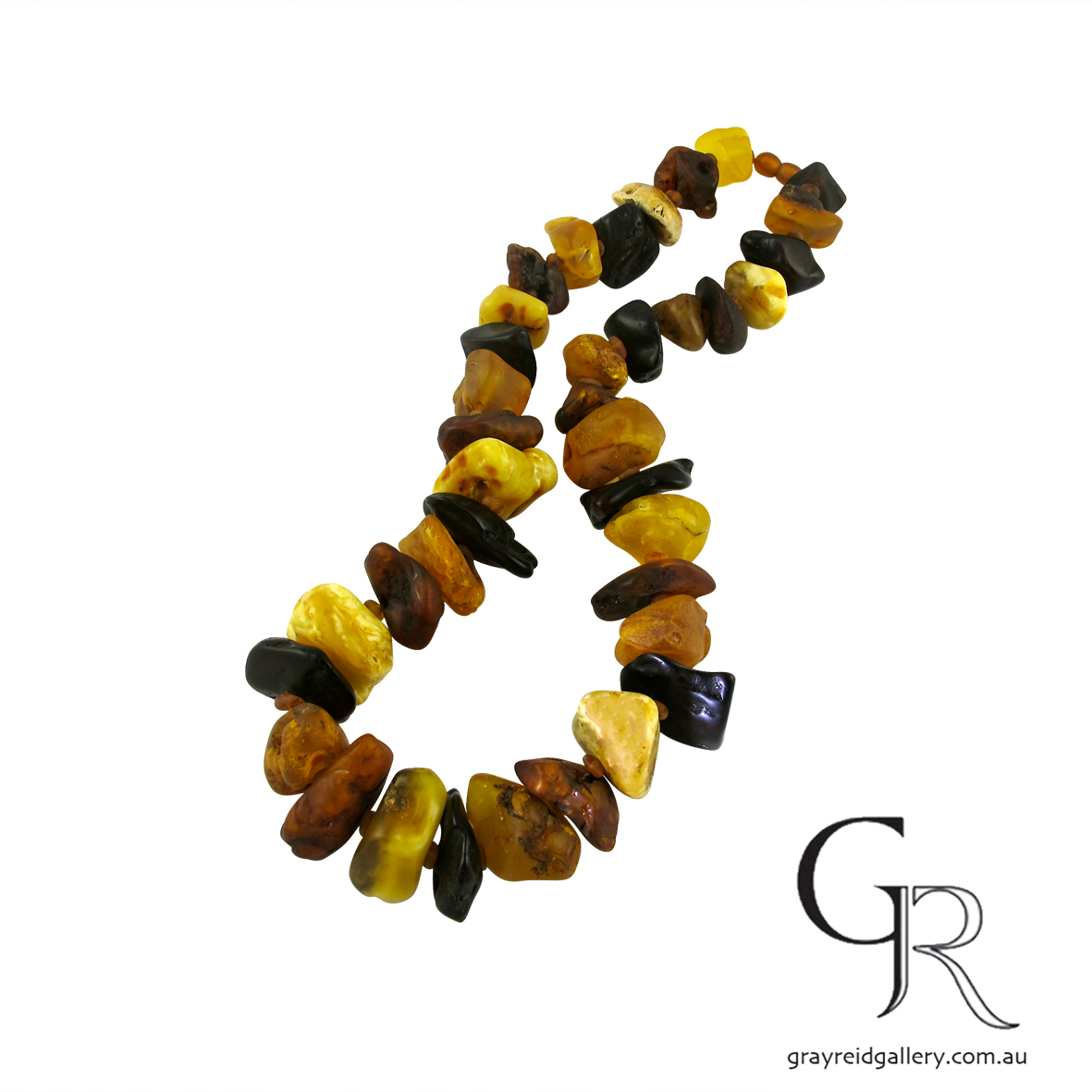 rough amber beads melbourne gray reid gallery.jpg
