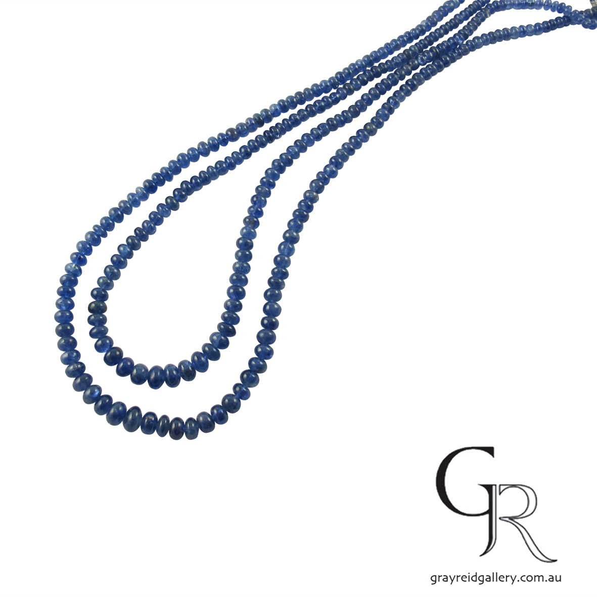 Polished Natural Burmese Sapphire Beads