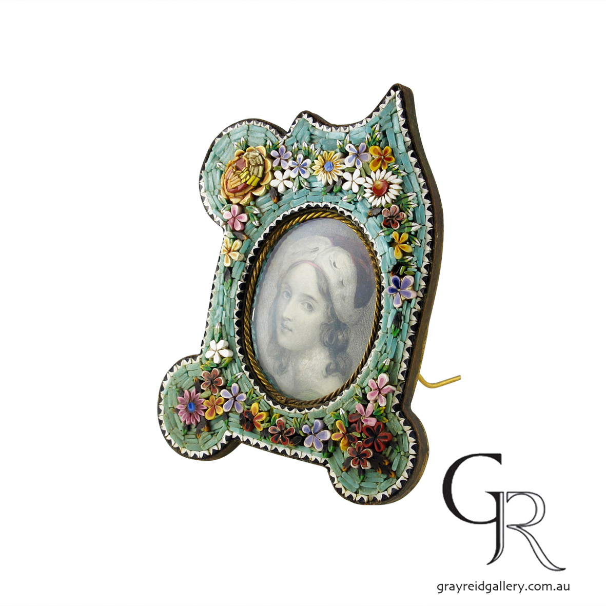 antiques and collectables melbourne micro mosaic picture frame Gray Reid Gallery 2.jpg