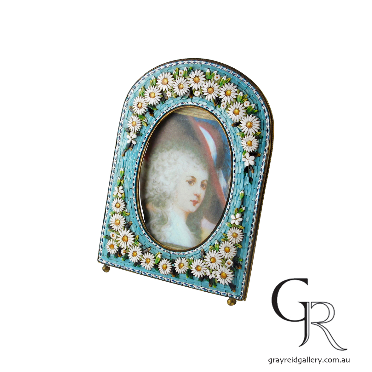 antiques and collectables melbourne micro mosaic picture frame Gray Reid Gallery 4.jpg