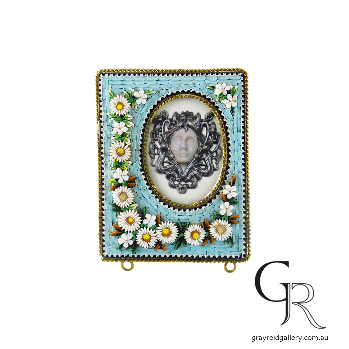 antiques and collectables melbourne micro mosaic picture frame Gray Reid Gallery 5.jpg