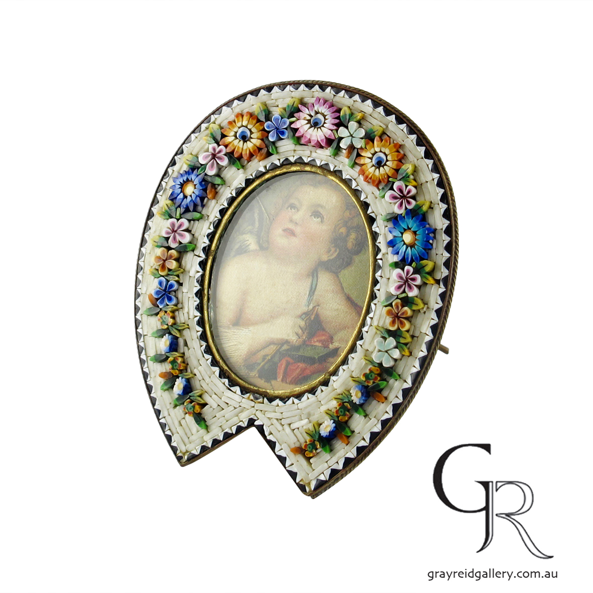 antiques and collectables melbourne micro mosaic picture frame Gray Reid Gallery 8.jpg