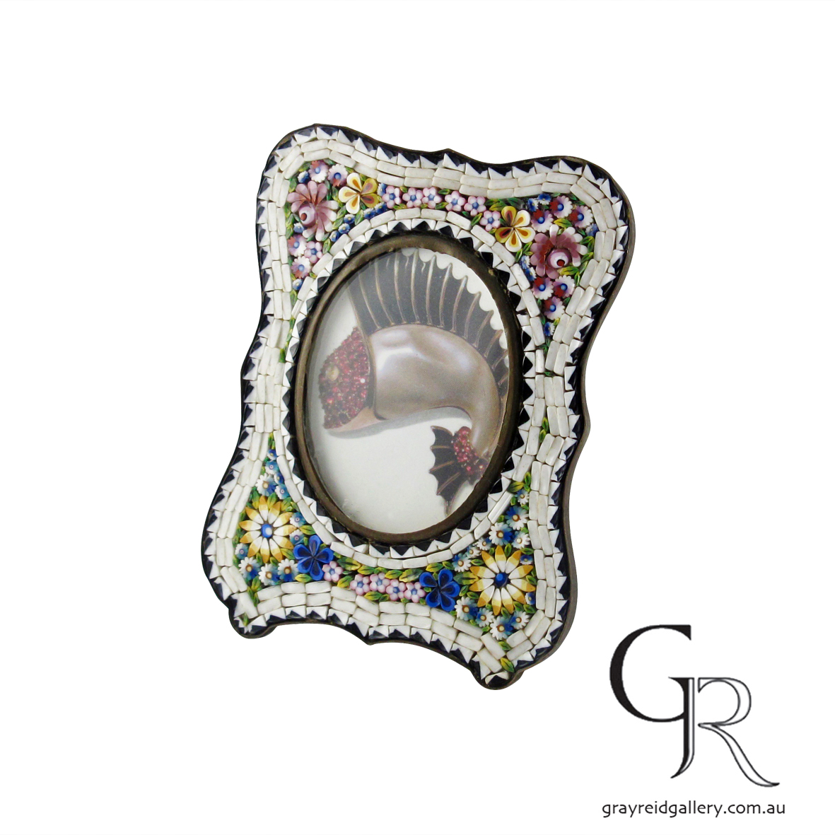 antiques and collectables melbourne micro mosaic picture frame Gray Reid Gallery 10.jpg