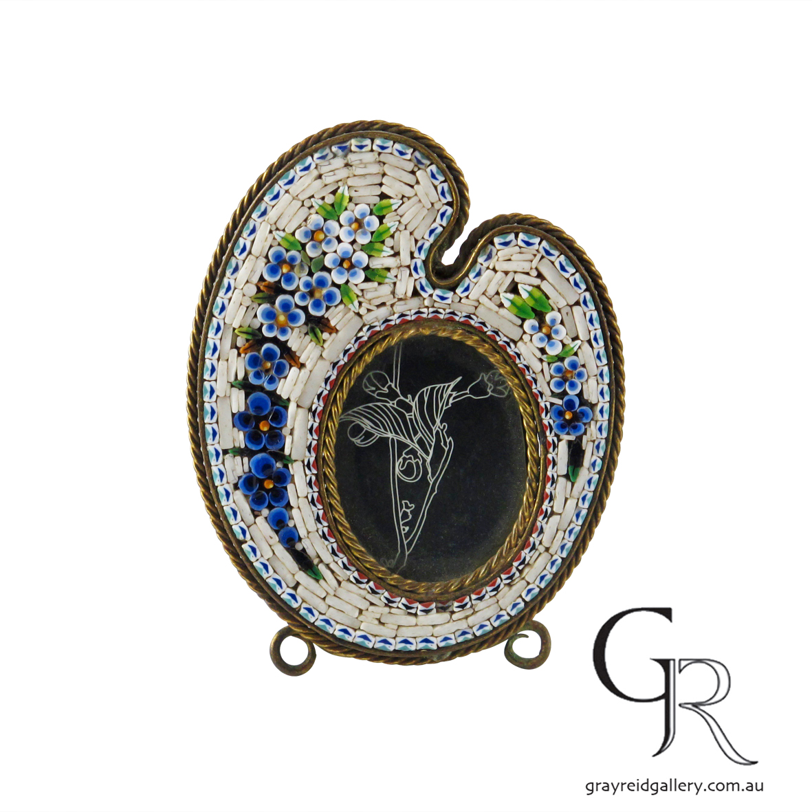 antiques and collectables melbourne micro mosaic picture frame Gray Reid Gallery 11.jpg