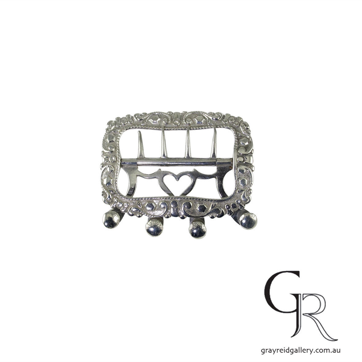 antiques and collectables melbourne sterling silver belt buckle Gray Reid Gallery 4.jpg