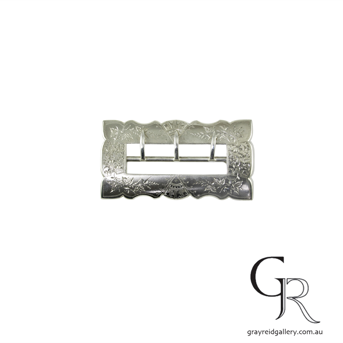 antiques and collectables melbourne sterling silver belt buckle Gray Reid Gallery 6.jpg