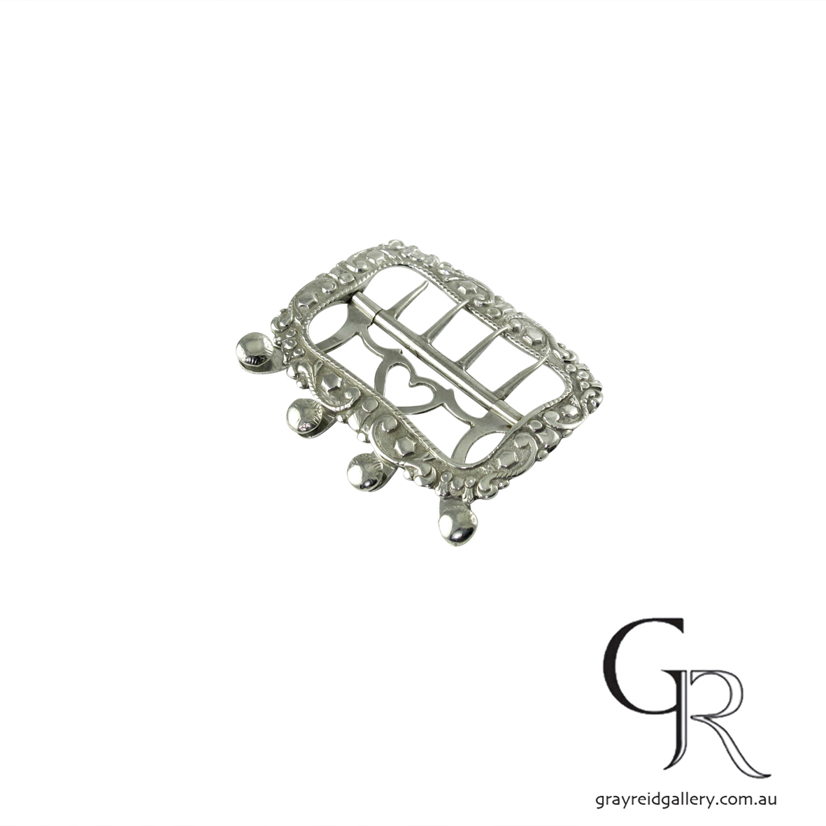 antiques and collectables melbourne sterling silver belt buckle Gray Reid Gallery 11.jpg