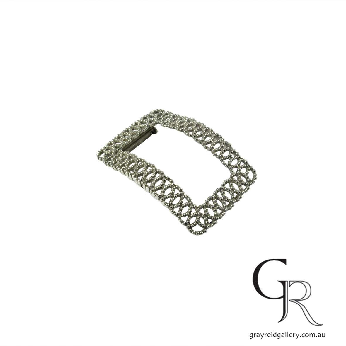 antiques and collectables melbourne sterling silver belt buckle Gray Reid Gallery 12.jpg