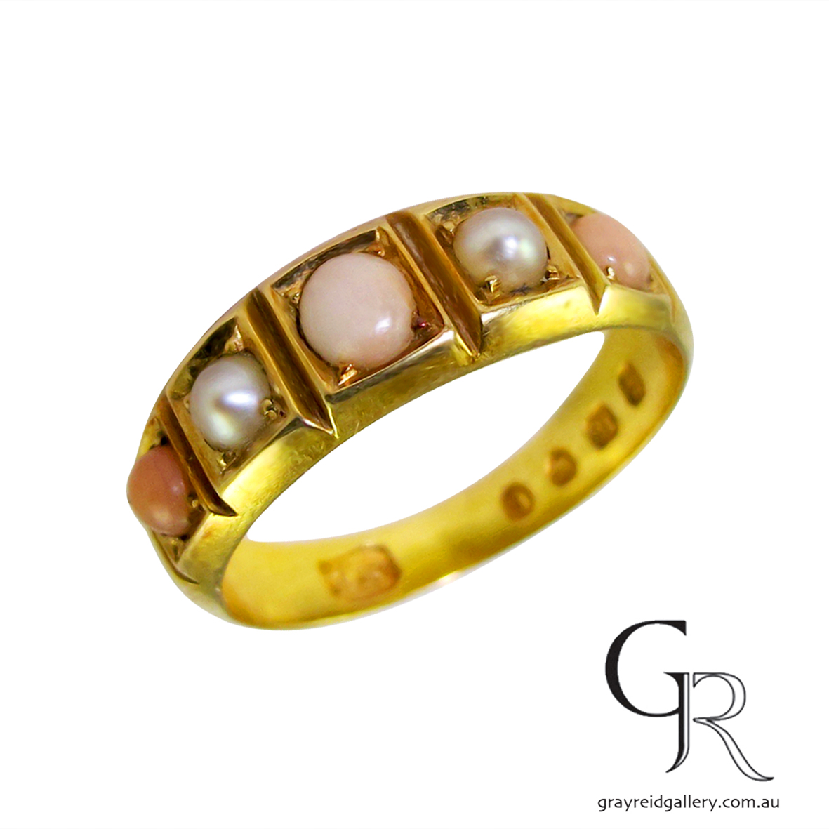 antique pearl and coral ring Melbourne Gray Reid Gallery51.jpg