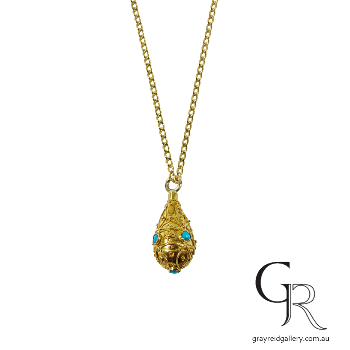gold and Turquoise victorian pendant Melbourne Gray Reid Gallery34.jpg